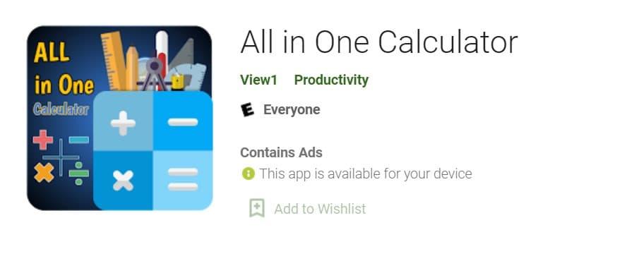 Math's and Scientific Calculator App